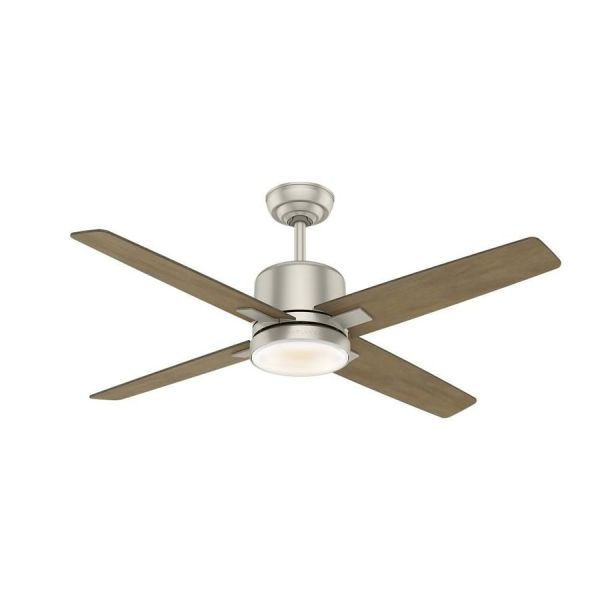 Casablanca 1 Pack Axial 52 In Matte Nickel Downrod Or Close Mount     Casablanca 1 Pack Axial 52 In Matte Nickel Downrod Or Close Mount Indoor Ceiling  Fan With Light Kit  4 Blade  59342   Casablanca  Ceiling fan and Blade