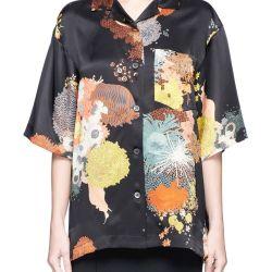 d6b081f16 Dries Van Noten Printed Floral Silk Shirt #driesvannoten #cloth