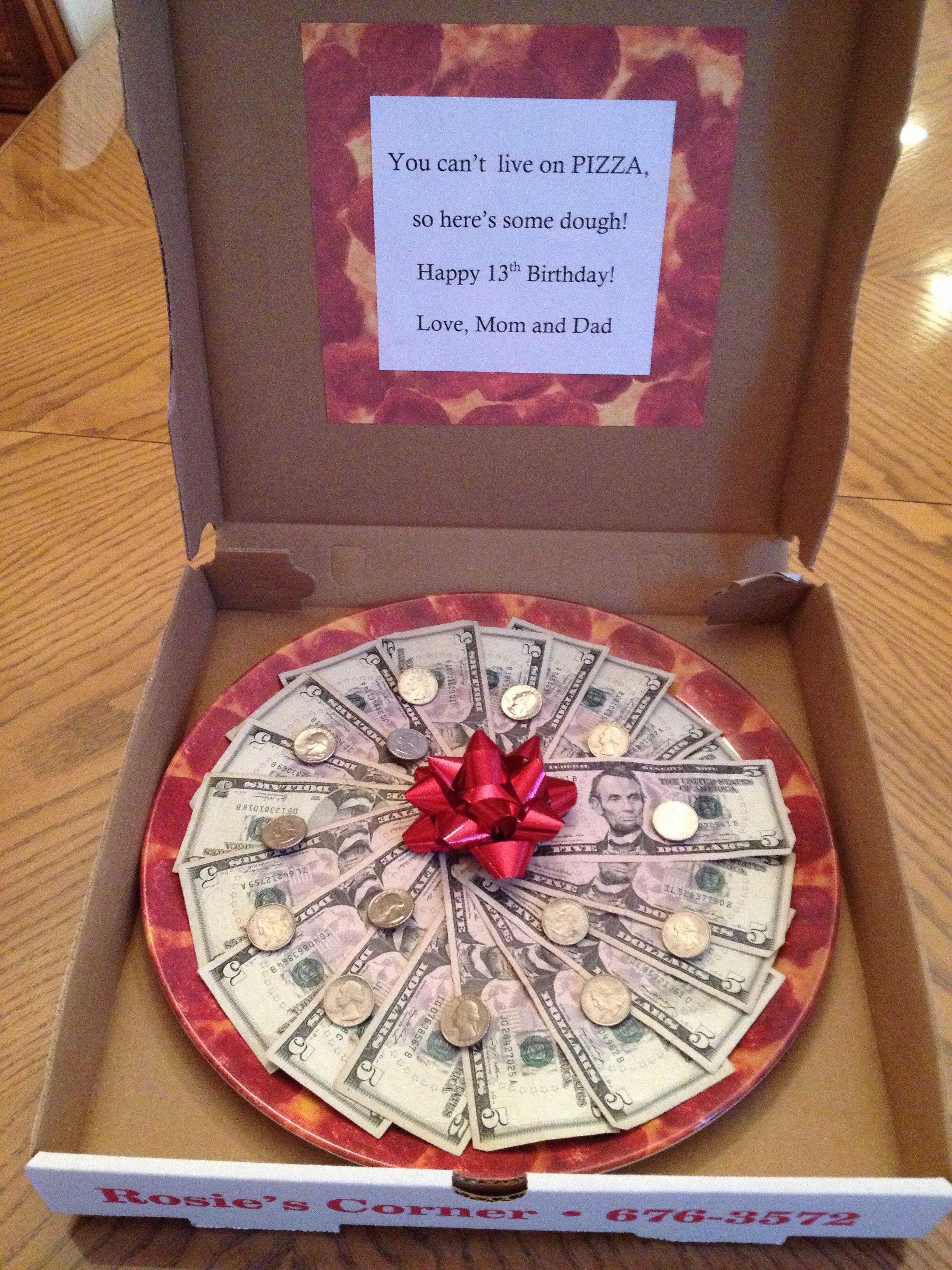 Pizza Made Of Money Gifts Pinterest Pizza And Money