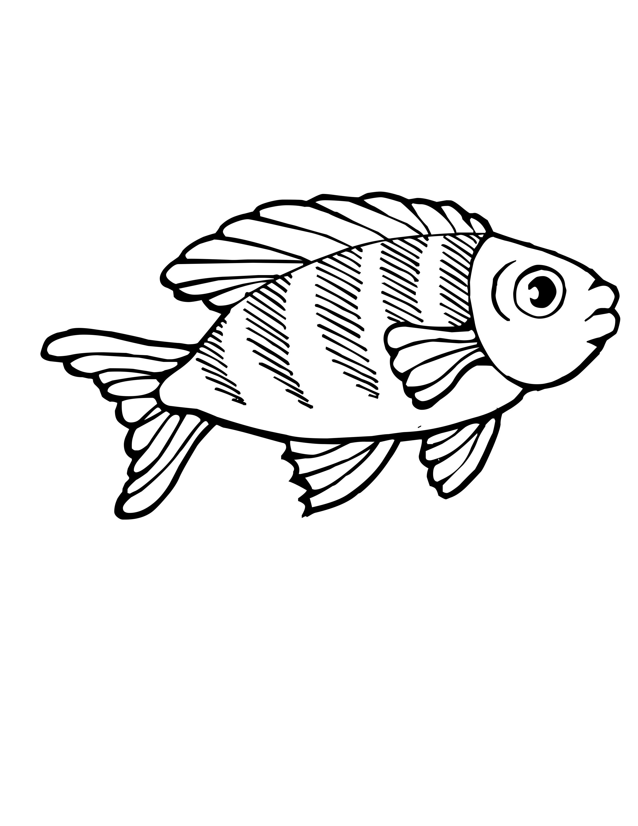 Cool Coloring Pages Of Fishes Free Download Uncategorized