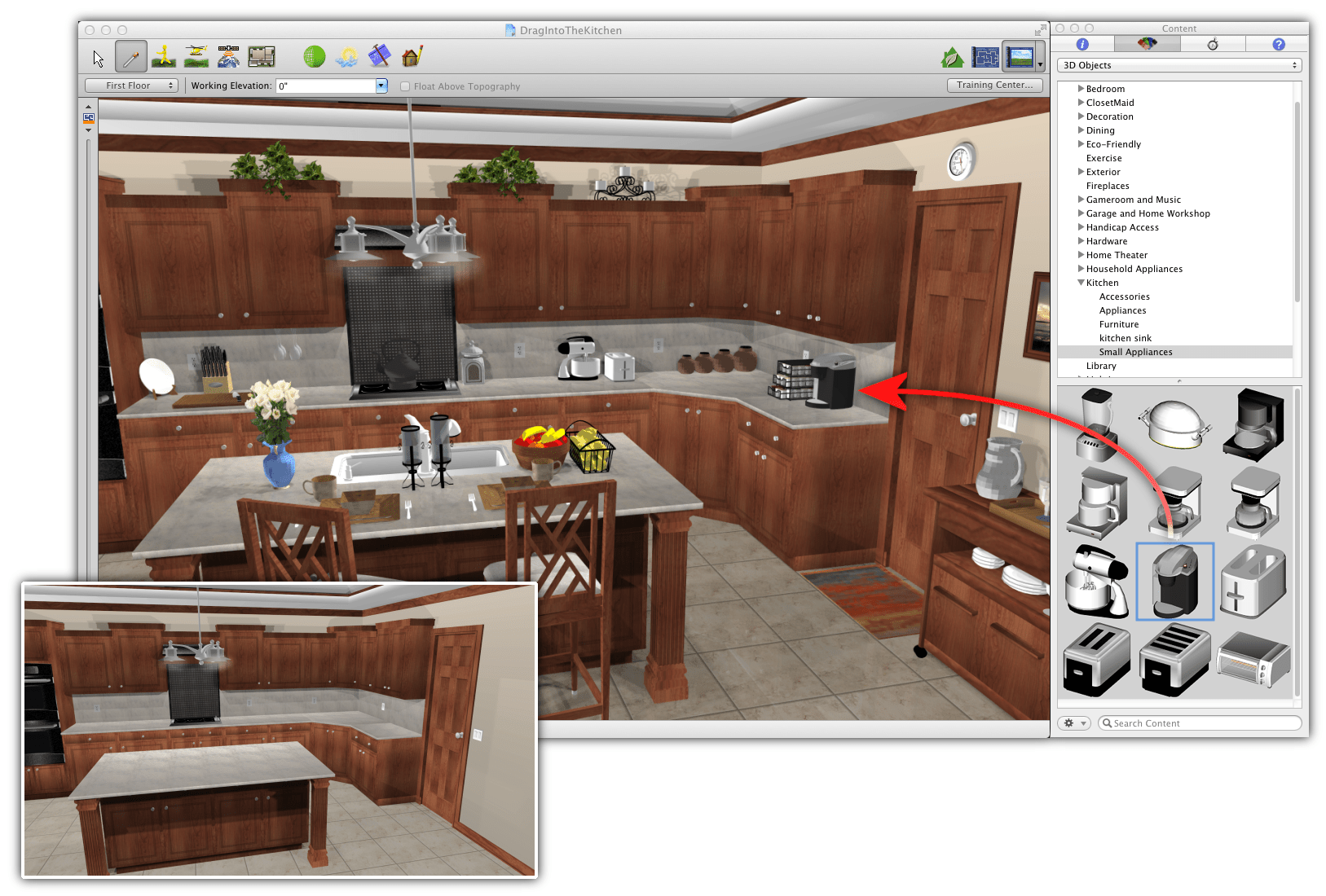 Best Kitchen Gallery: Drag And Drop 3d Objects 3d Printers Models Software of Kitchen Cabinet Software Programs on cal-ite.com