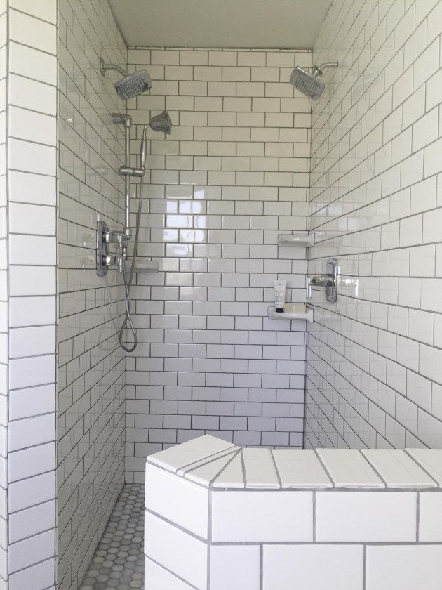 Farmhouse Master Bathroom   Master bathrooms  Subway tiles and     Farmhouse Master Bathroom