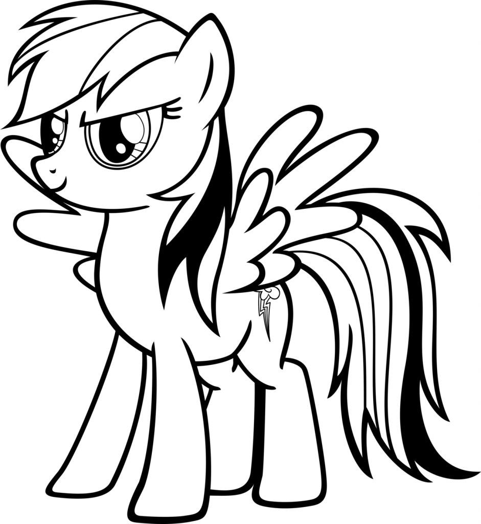 Rainbow Dash Coloring Pages Cartoon Coloring Pages Pinterest