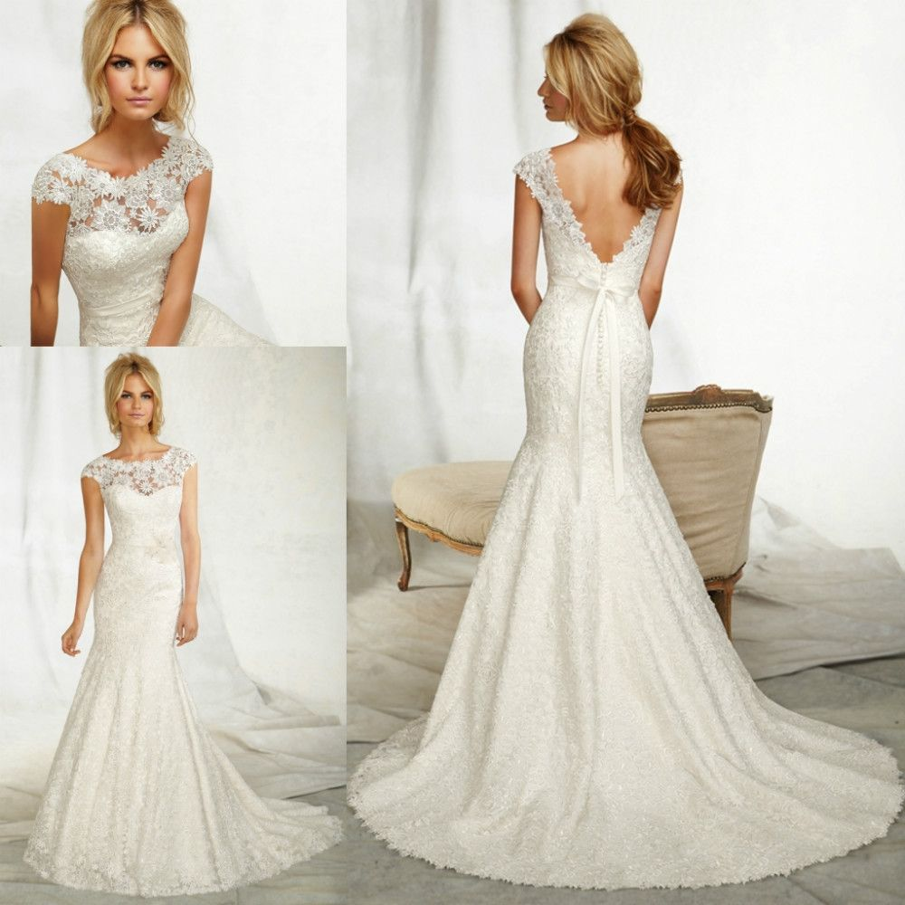 Wedding Dresses Trumpet Style Lace   Elegant Weddings find more wedding dresses information about wrl074 cap