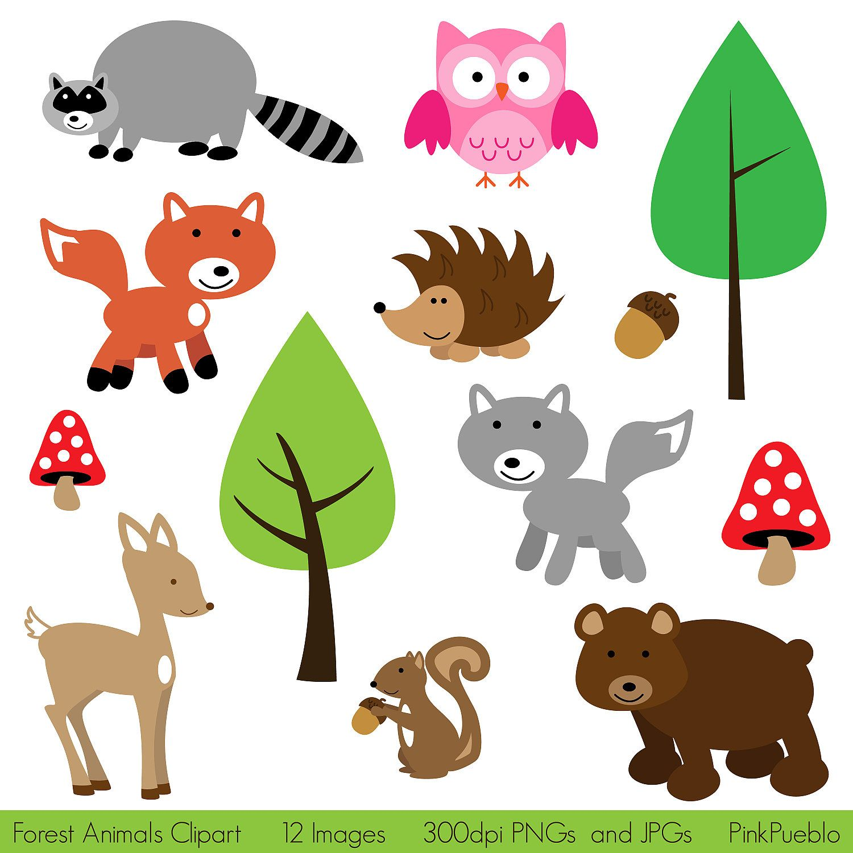 Forest Animals Clip Art Clipart Woodland Animals Clip Art ...