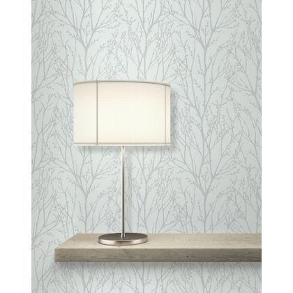 Fine Decor Delamere Wallpaper Blue And Silver At