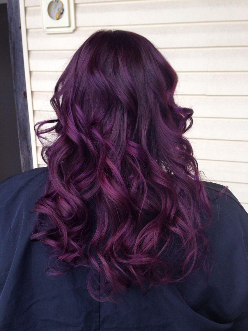 purple balayage … | Pinteres…