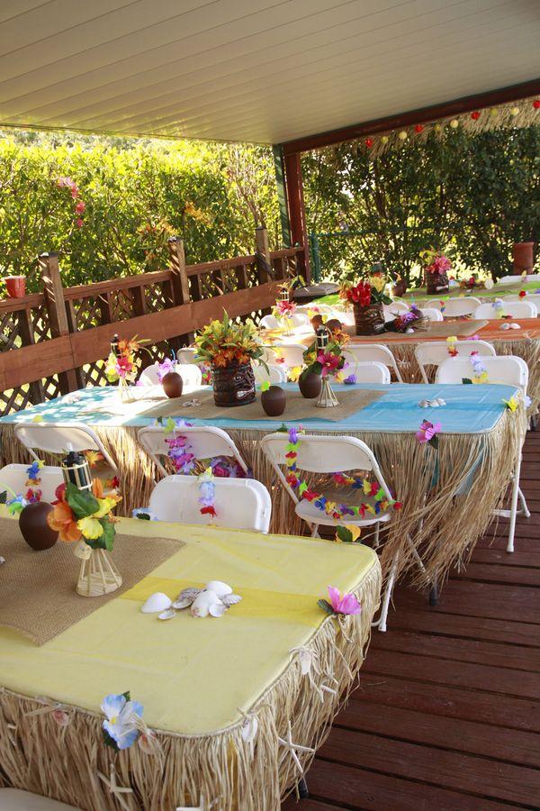 Tropical Party Decorating Ideas Hawaiian Luau 1st