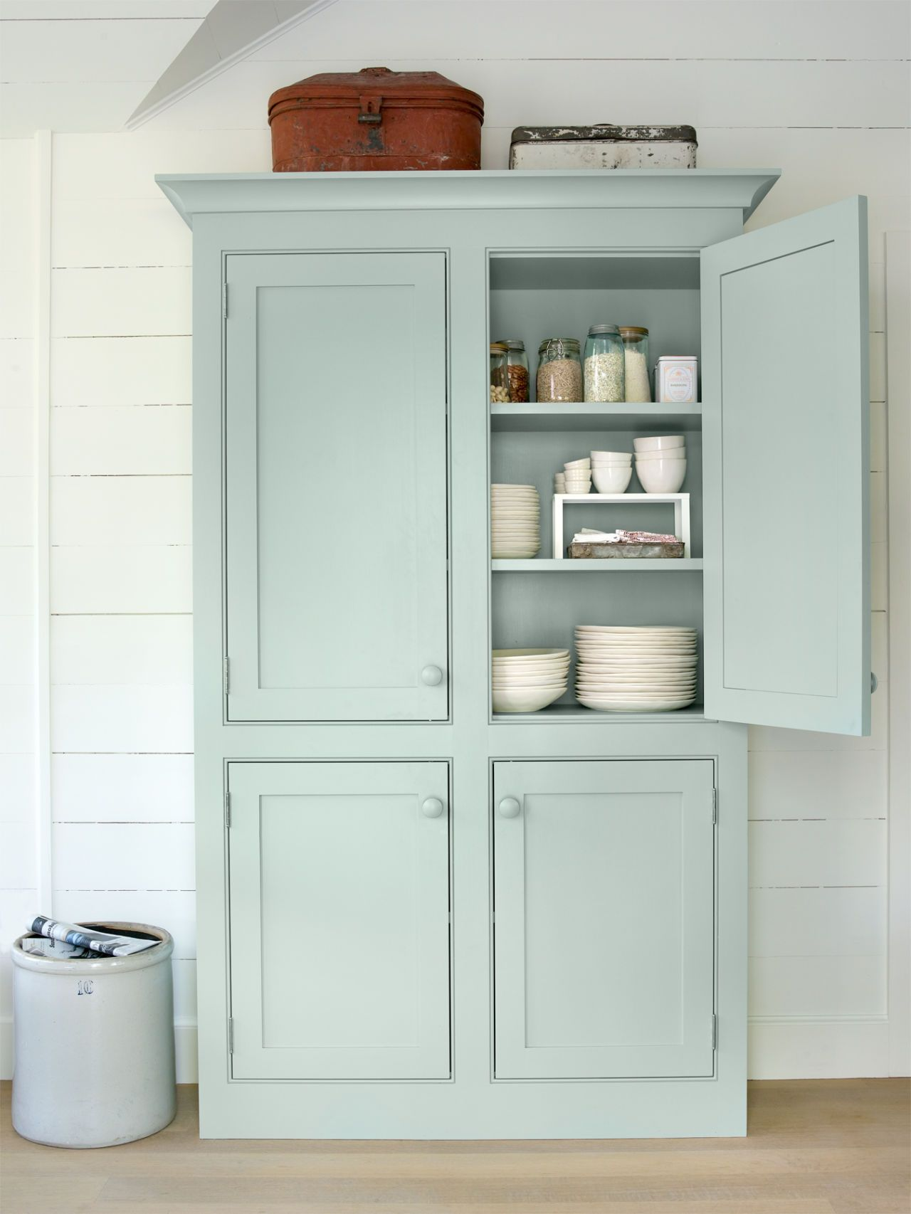 Best Kitchen Gallery: 41 Easy Breezy Beach House Decorating Ideas Armoires Mint Decor of Kitchen Armoire Cabinets on cal-ite.com