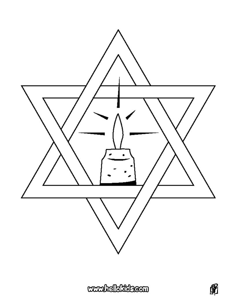Star Of David Coloring Page Hanukkah Coloring Pages Pinterest