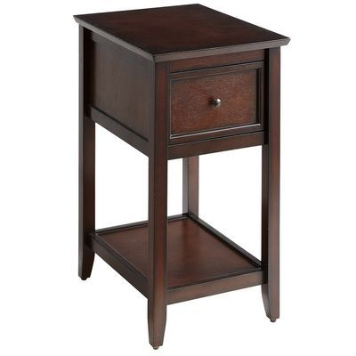 Ashington Mahogany Brown End Table Music Rooms Side