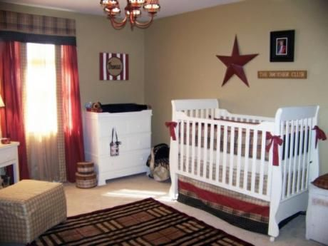 America Red White Blue Theme Nursery Lilah Anne