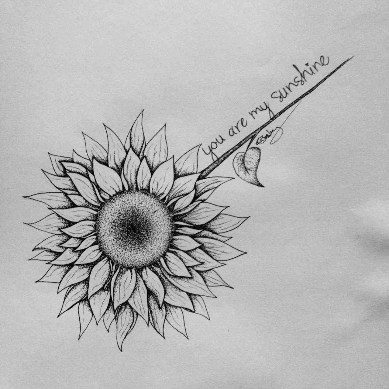 Sunflower tattoo drawing for a friend :) | drawing ...