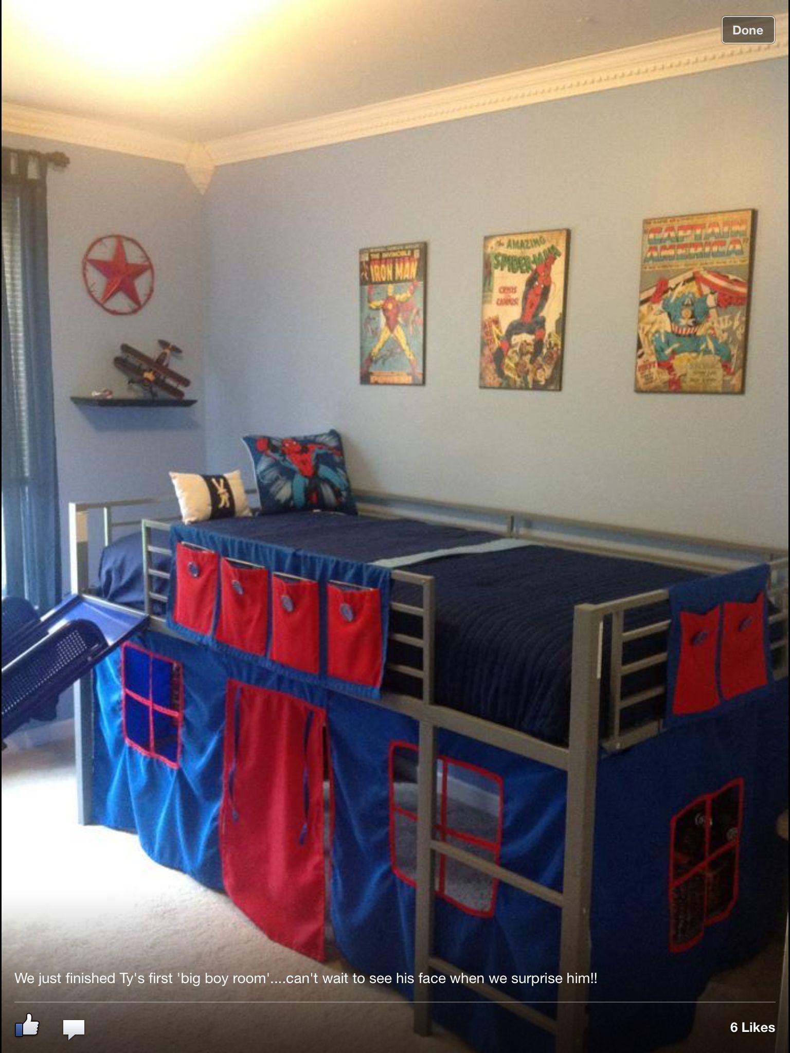 Boys Super Hero Loft Bedroom Junior Fantasy Loft Bed With