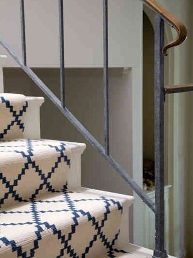 You Could Also Paint The Stairs And Put A Carpet Runner   Carpet Up Middle Of Stairs