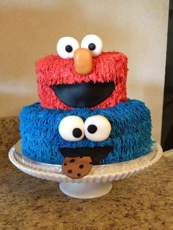 Elmo And Cookie Monster Birthday Cake Occasions Kids