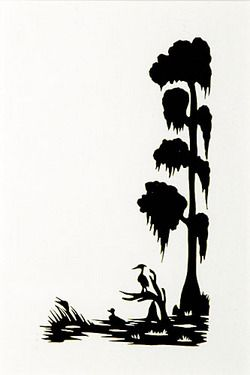 Silhouette; Rice (Carew), signed, Duck & Heron in Cypress ...