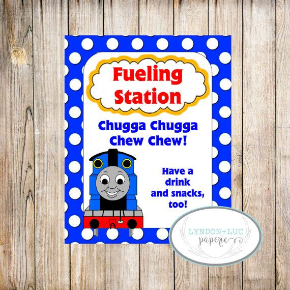 Thomas Amp Friends Fueling Station Sign By Lyndonlucpaperie