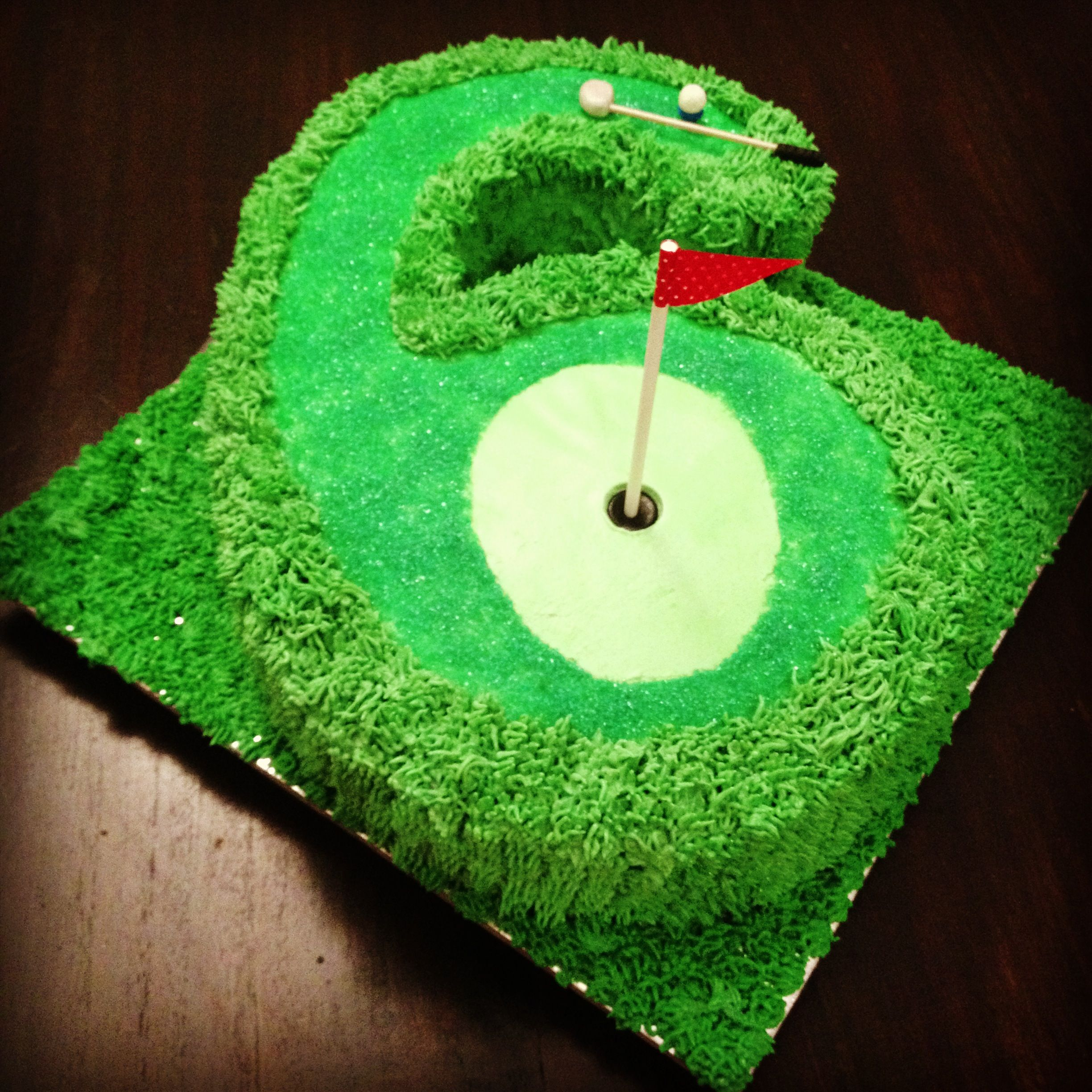 Mini Golf Partee Birthday Cake For My 6 Year Old The