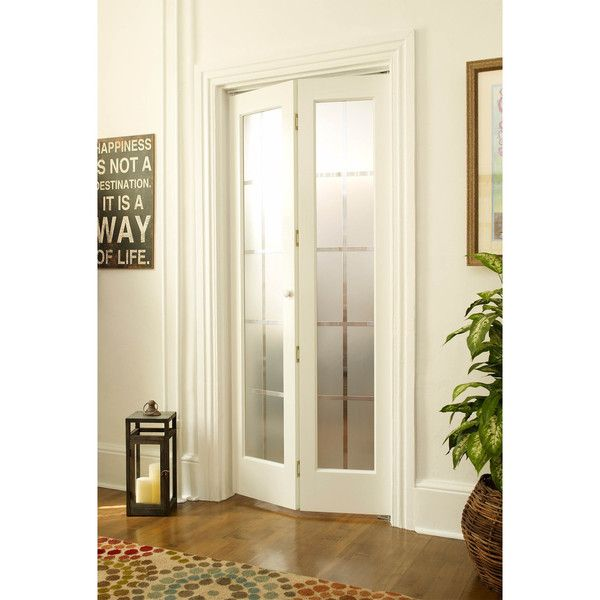 American Wood Mission Frosted Bi Fold Door Replace