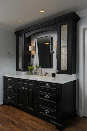 Bathroom Single Sink Tall Cabinets Ontop Of Vanity Design