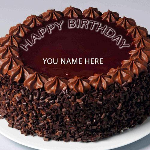 Write Name On Happy Birthday Cake Happy Birthday Greeting