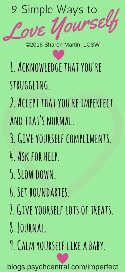 9 Simple Ways to Love Yourself | Positivity, Mental health ...