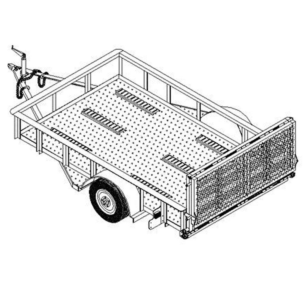 6′ x 10′ utility trailer plans 3 500 lb capacity model 1110 utility trailer plans blueprints pinterest trailer plans and utility trailer