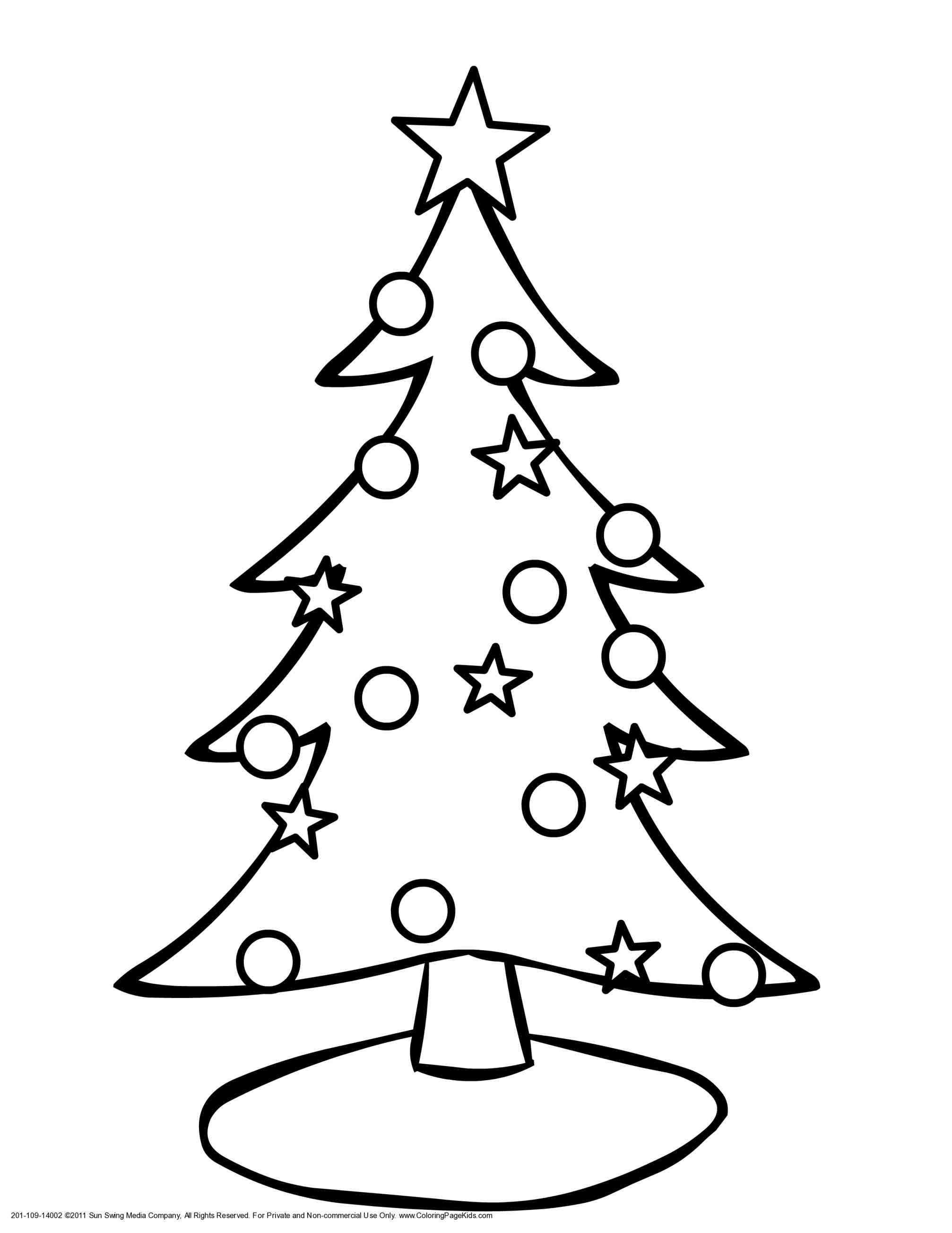 New Post Christmas Tree Ornaments Coloring Pages For Kids Xmast