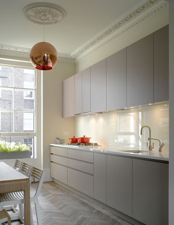 Roundhouse Bespoke Urbo Kitchen In A Galley Layout