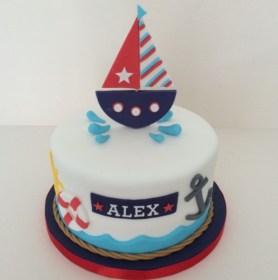 Nautical 1st Birthday Cute Topper Smash Cakes