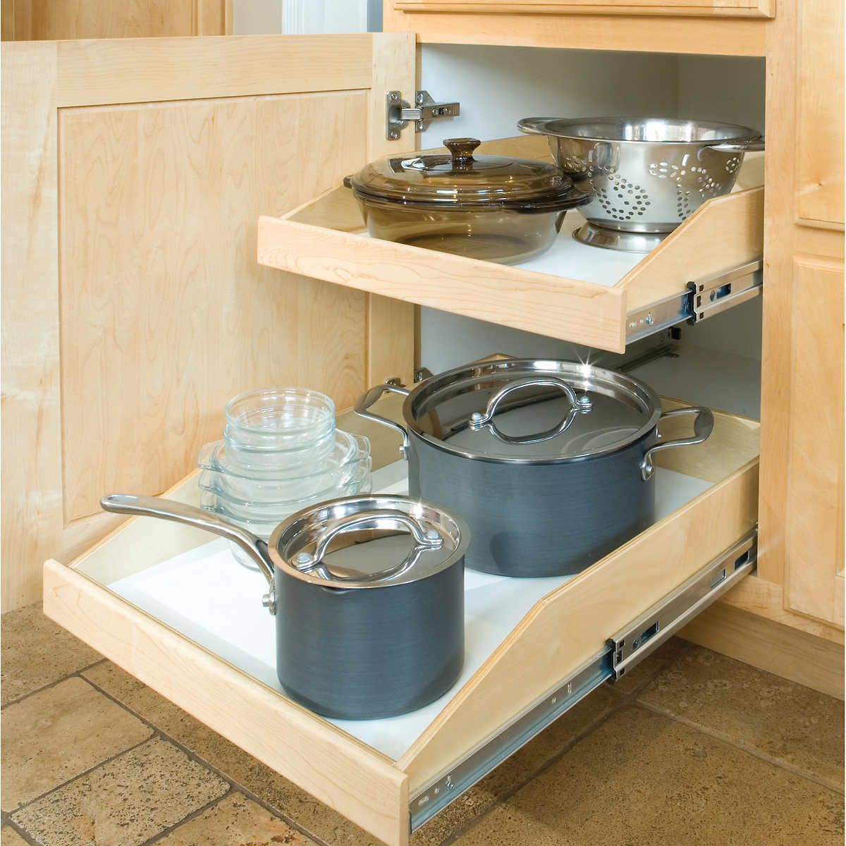 Best Kitchen Gallery: S Costco Made To Fit Slide Out Shelves For Existing of Pull Out Shelves For Kitchen Cabinets on cal-ite.com