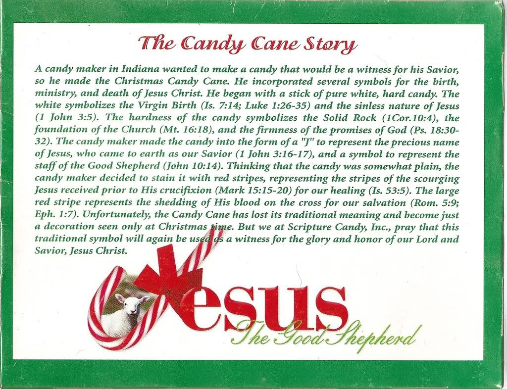 The Candy Cane Bible Legend | Candy Cane Legend ...