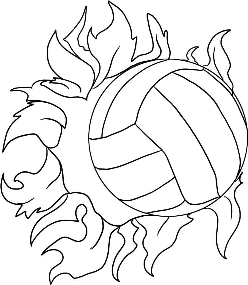 Colorings Co Volleyball Coloring Pages Pages Coloring