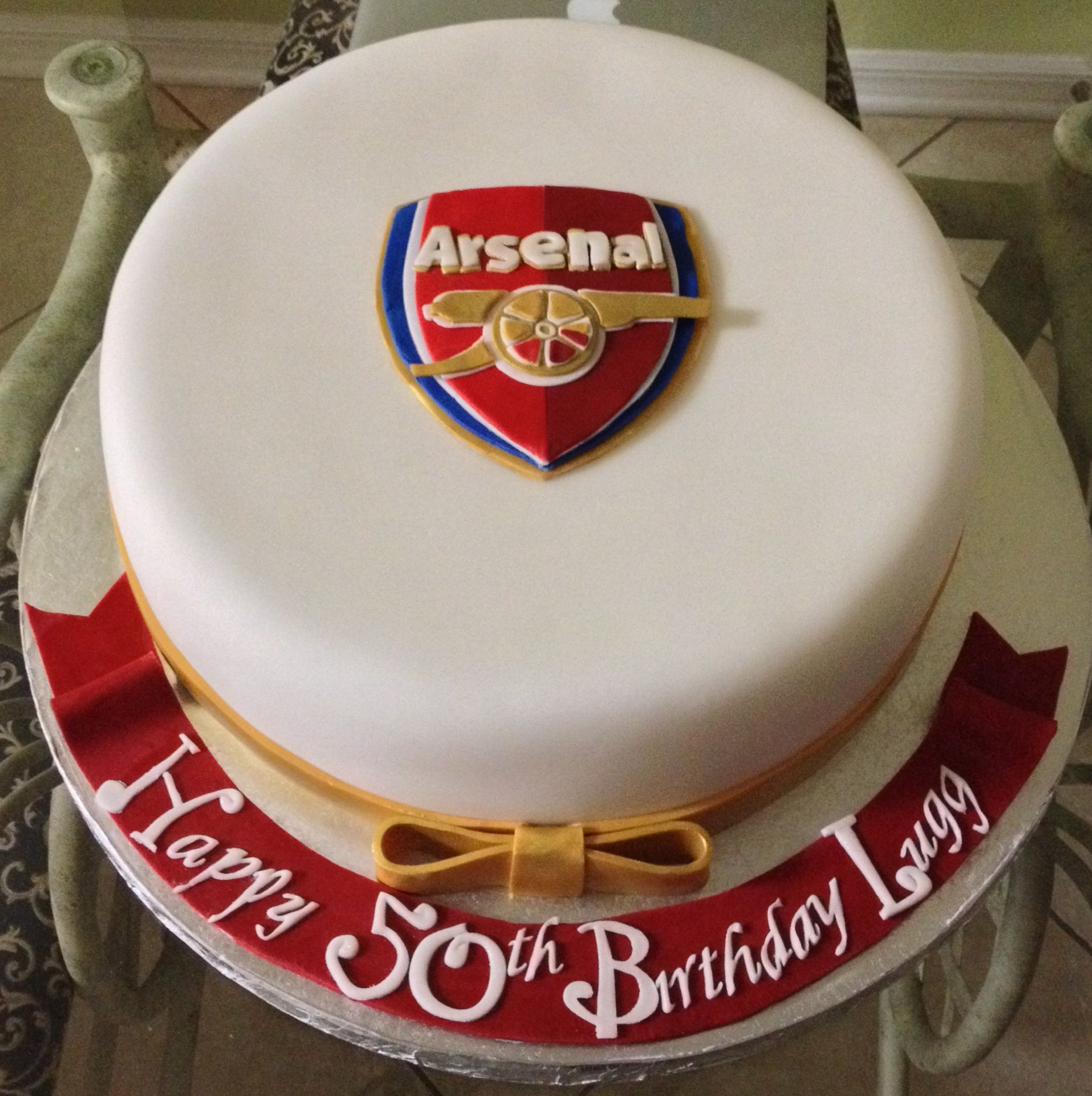 Arsenal Cake Fondant Cakes By Dee My Own Creations