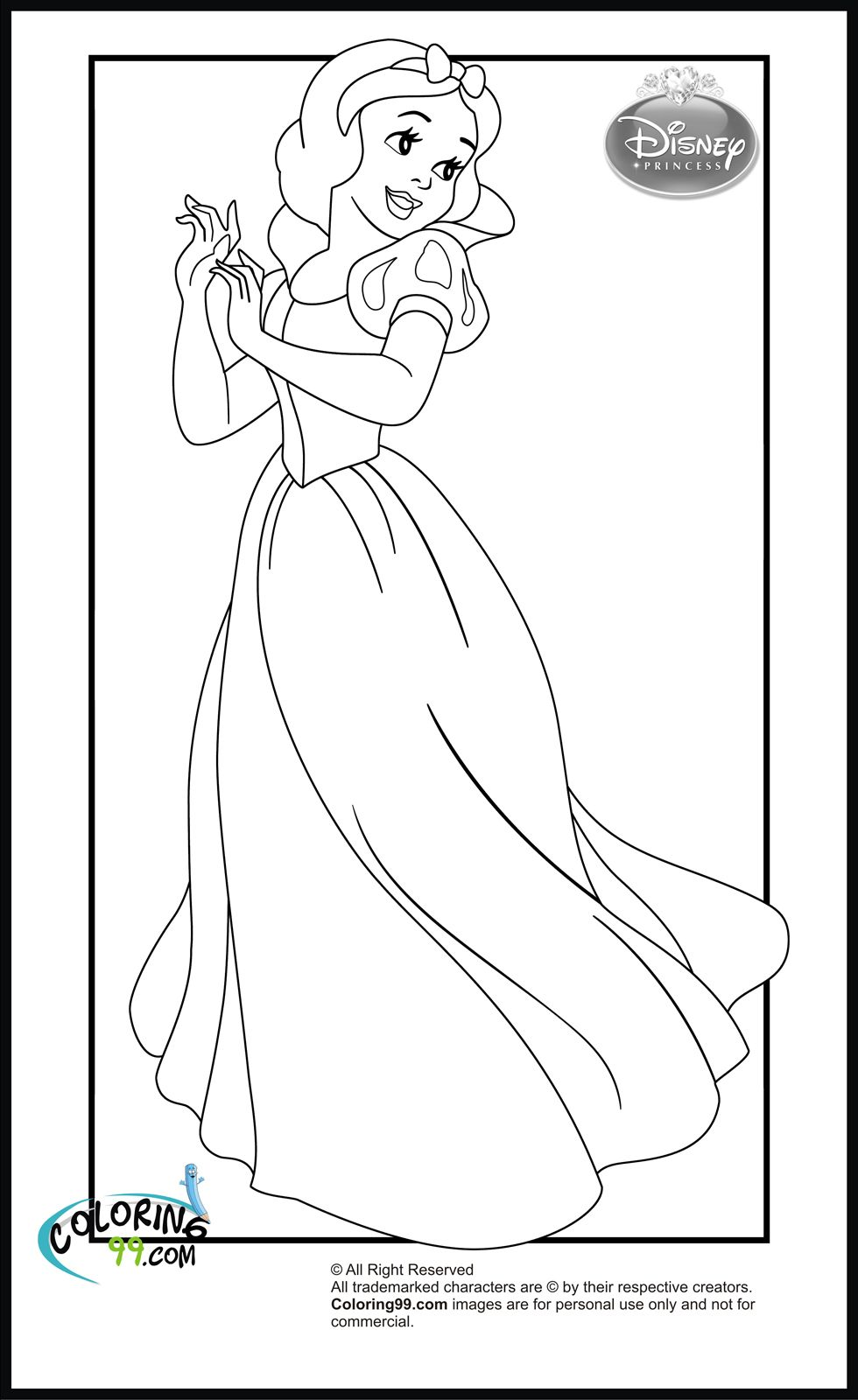 Disney Princess Snow White Coloring Pages Aa Coloring Pages