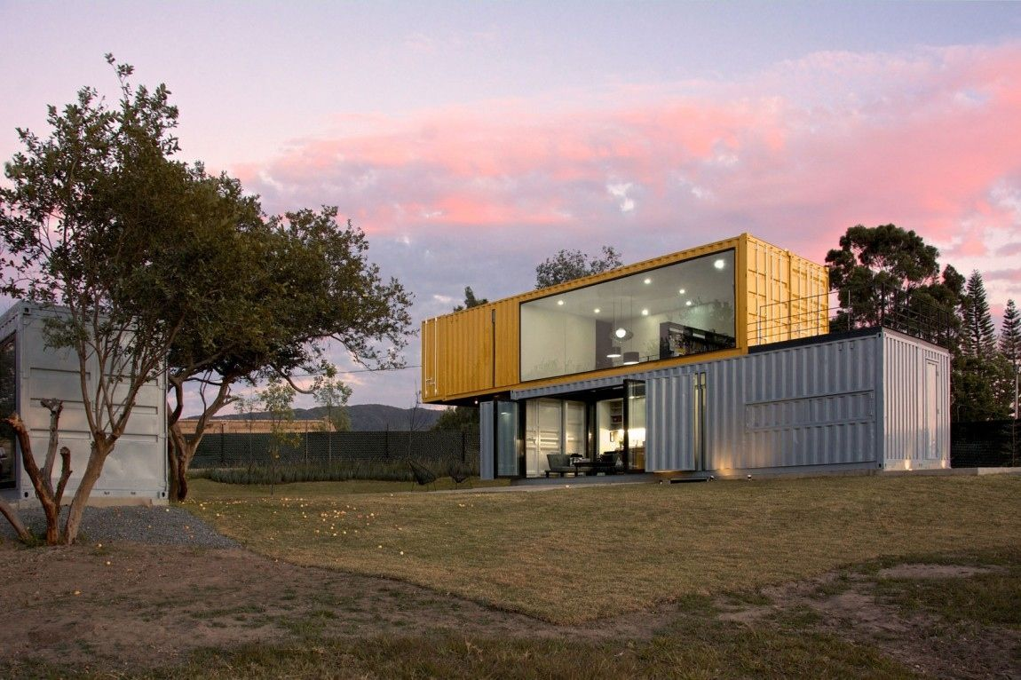 Best Kitchen Gallery: 4 Shipping Containers Prefab Plus 1 For Guests Container of Houses From Shipping Containers on rachelxblog.com