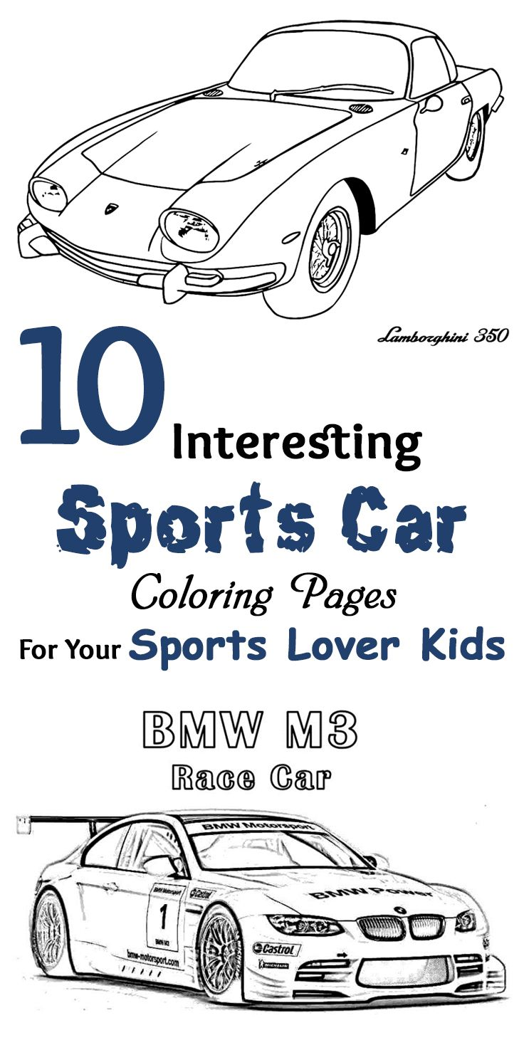 Top 20 Free Printable Sports Car Coloring Pages Online Free