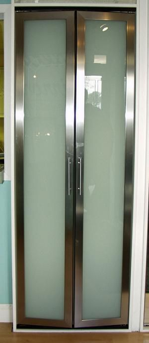 Designer Closet Doors Mirror Glass Sliding Bifold