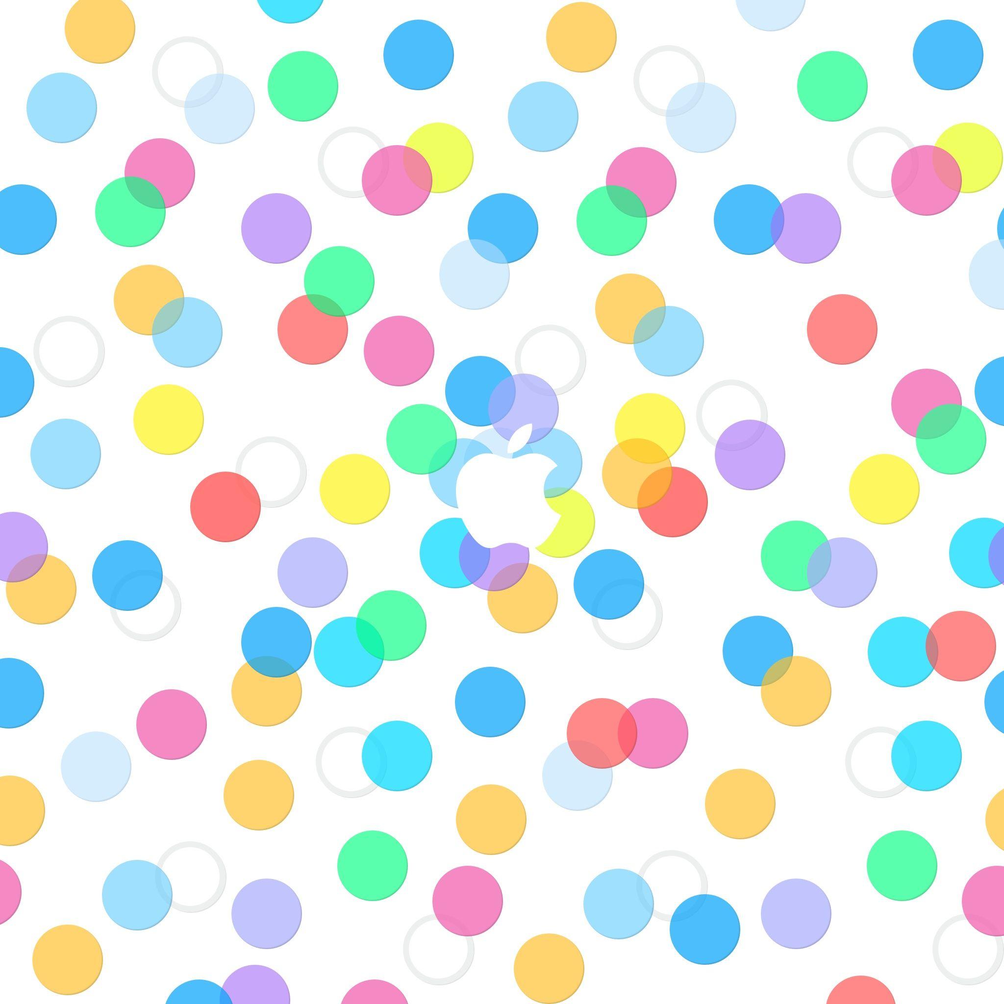 Apple Logo Colorful Dots Pattern Ipad Wallpaper Hd Apple