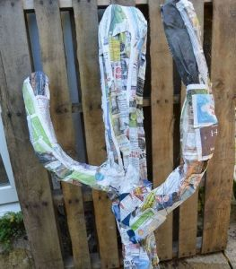 How to Make A Giant Paper Mache Cacti for Your Home and Garden     How to Make A Giant Paper Mache Cacti for Your Home and Garden
