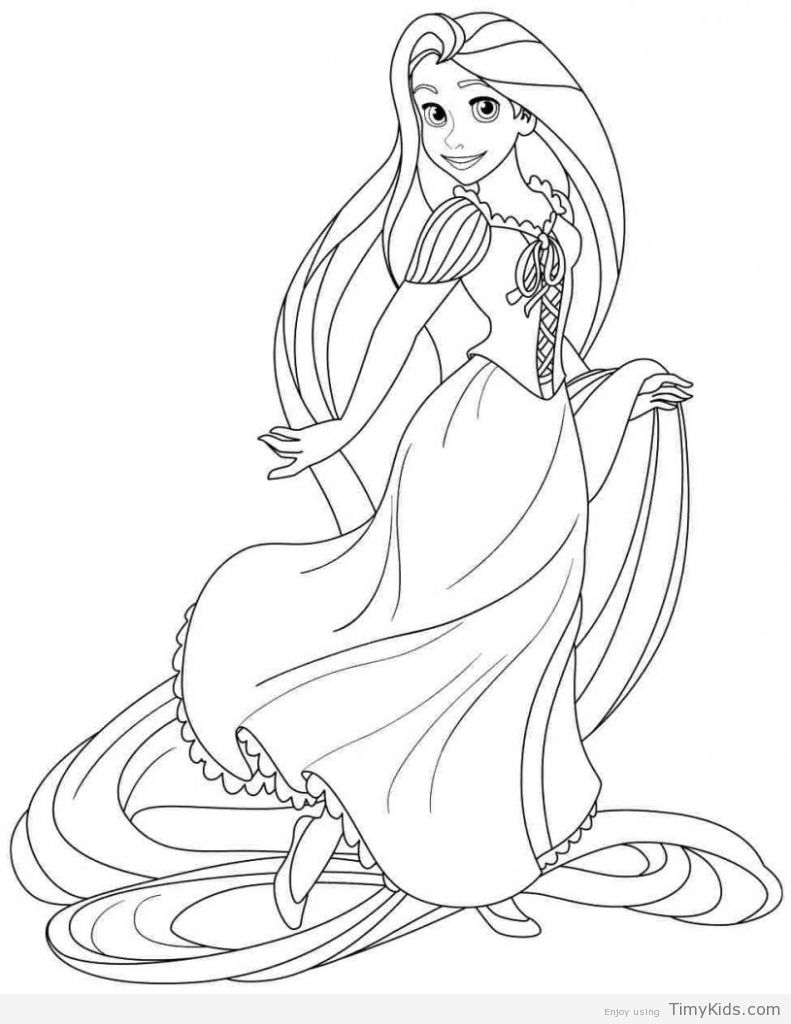 Disney Princess Coloring Pages Rapunzel And Flynn Coloring Pages