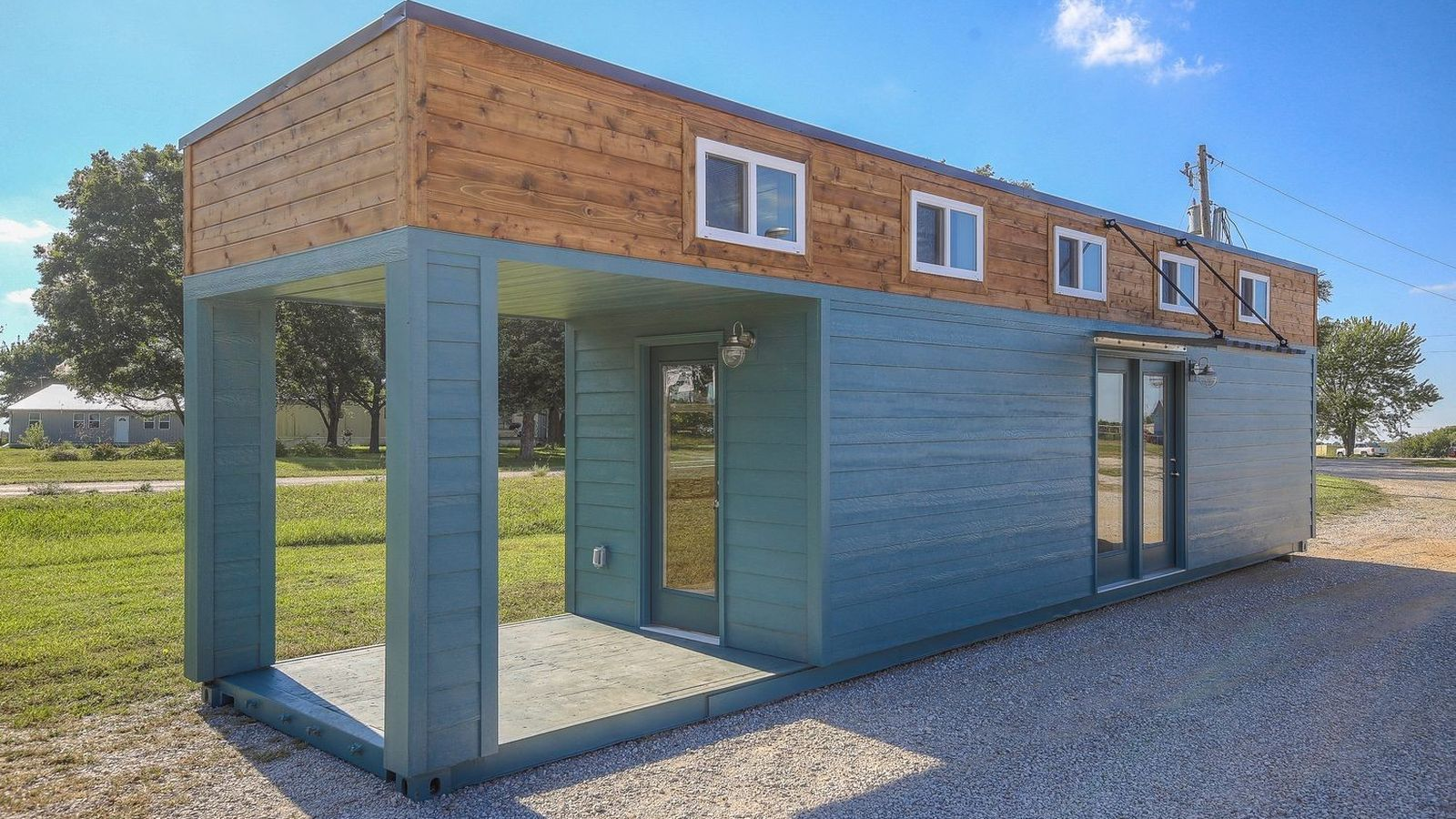 Best Kitchen Gallery: Slick Tiny House Converted From A 40 Foot Shipping Container Tiny of Homes From Containers on rachelxblog.com