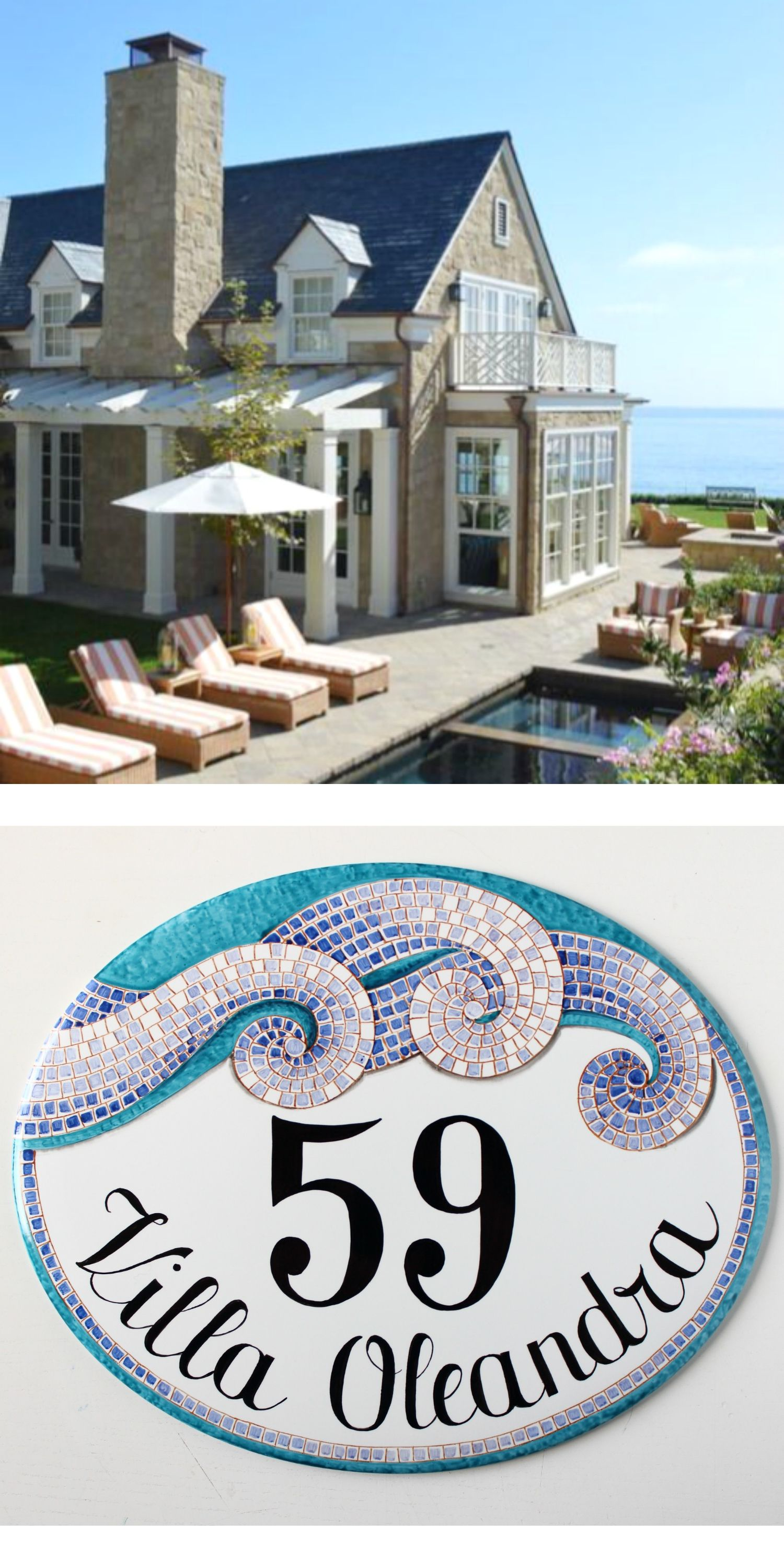 Best Kitchen Gallery: Ocean Mosaic Address Number Sign Beach House Numbers Mosaic Beach of Ocean House Numbers on rachelxblog.com