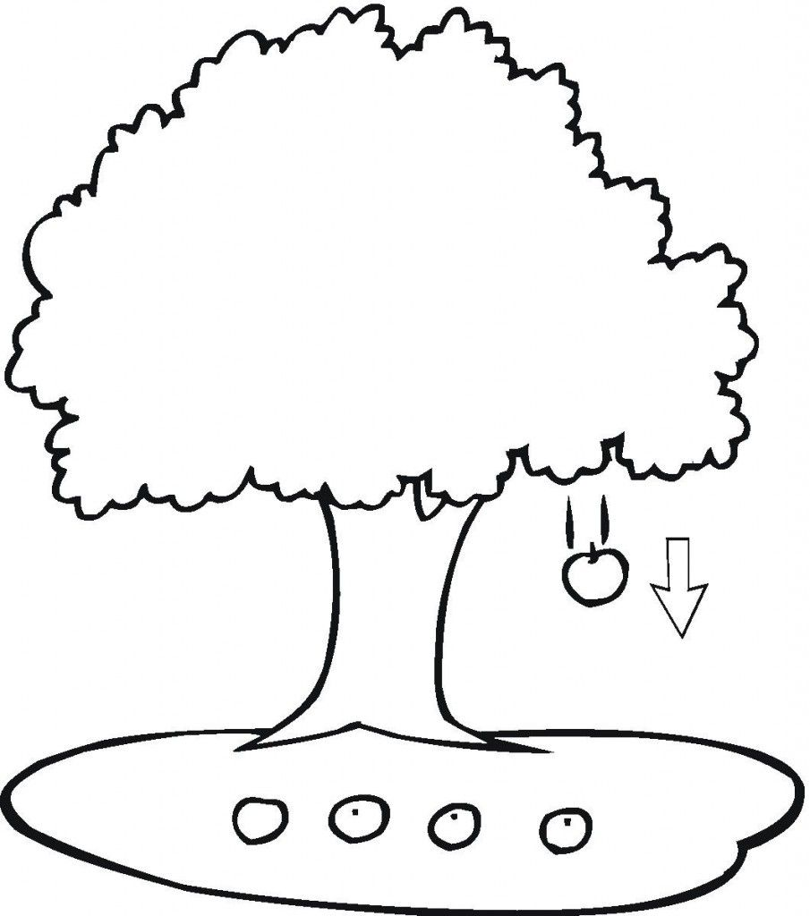 Apple Tree Coloring Pages Patrones Pinterest Apples Free