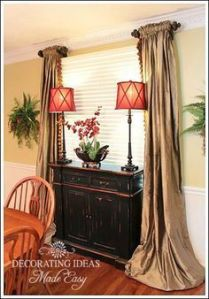Dining Room Window Treatments and Decorating   Stationary  Window     Dining Room Window Treatments and Decorating  Dining Room CurtainsCurtain  Ideas