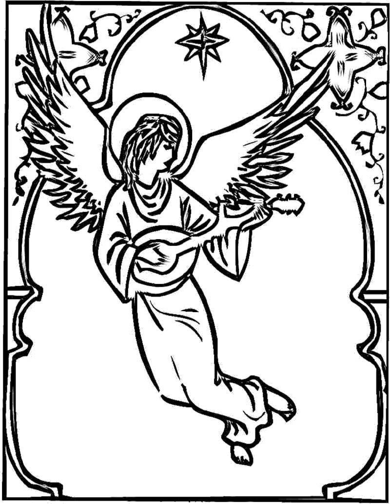 Christmas Angel Coloring Page Coloring Pages For Kids