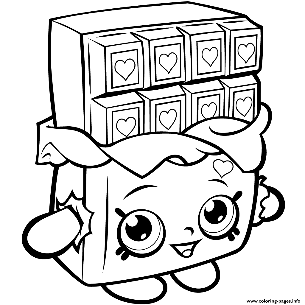 Coloring Pages Info Shopkins Season 1 Chocolate Cheeky Printable