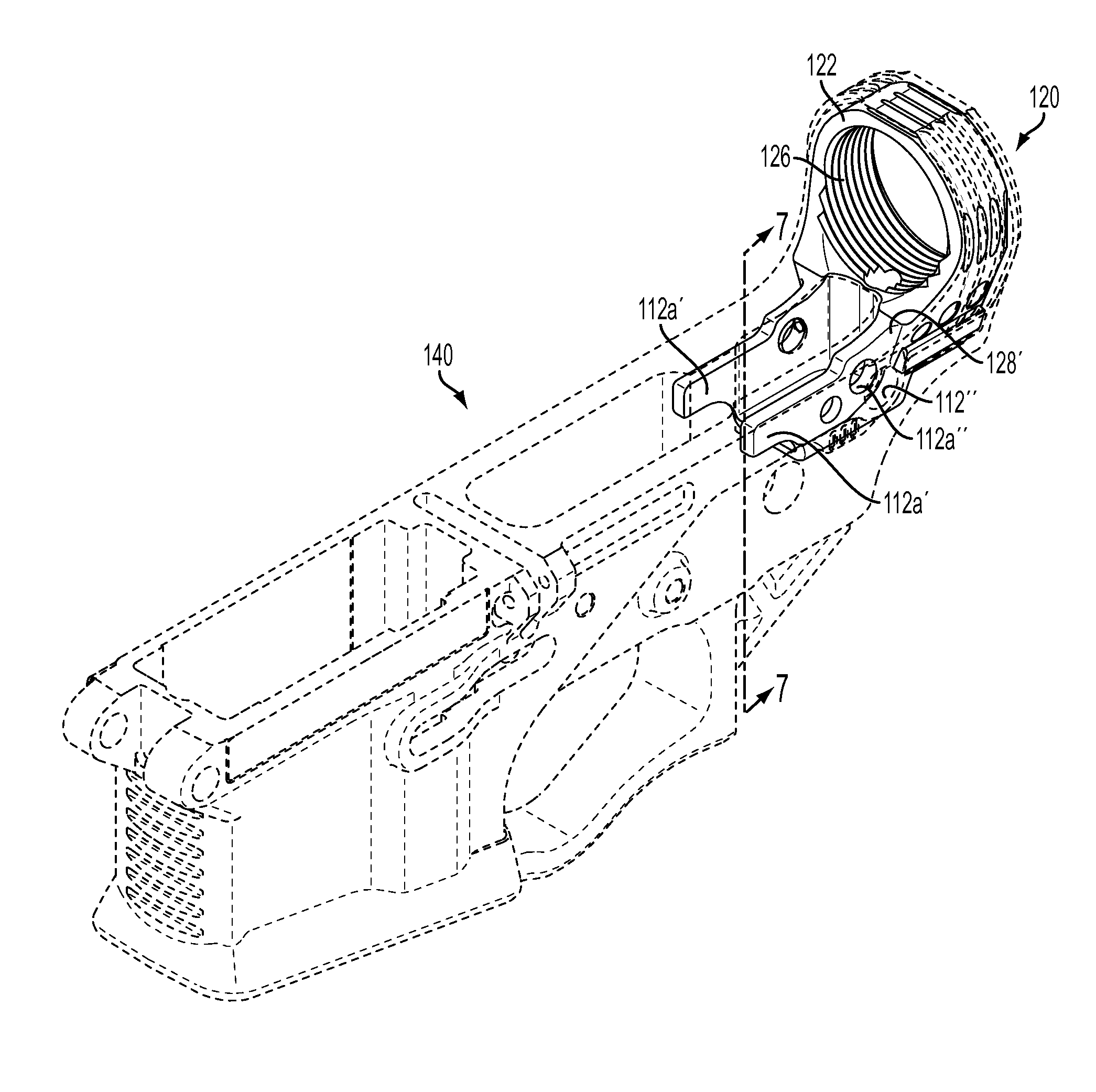 Patent us8789305 hybrid lower receiver for a rifle patents