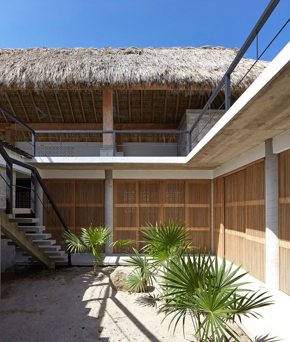 Best Kitchen Gallery: Baaq Pletes Seaside House In Mexico With Raised Terraces Wooden of Tropical House Number Frames on rachelxblog.com